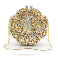 Factory Directly Wholesale gold Crystal Rhinestone Diamond Evening Purse Evening Clutch silver Boxed Evening Bag and Clutches(China)