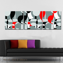 3 Panels Modern Abstract Circle Canvas Printings Spray Painting Giclee Print High Definition Print on Canvas Unframed Home Decor