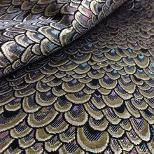 1Yard 91*150cm,Metallic Peacock Jacquard Brocade Fabric,Brand Fabric,Shining Tissue for Dress,Sewing Patchwork Material Tecido