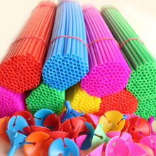 100 sets/lot 30cm latex Balloon Stick multiple Colour PVC rods for Supplies Balloons Wedding balloon decoration accessories(China)
