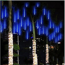 Waterproof 30cm or 50cm Led Meteor Shower Rain light 8 pcs tubes AC110V AC220V for Wedding Xmas EU/US Falling Raindrop Lights