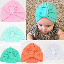 Candy colors cotton baby hats baby cap autumn winter children headgear baby Beanies girls toddlers kids hat bonnet enfant fille(China)