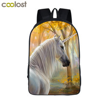 Unicorn Backpack for Teenage Girls Boys Cartoon Animal Kids Schoolbags mochilas kawaii Deer Children Backpacks Horse School Bag(China)