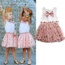 Buy Toddler Kid Baby Girl Princess Casual Wedding Party Sequions Tulle Tutu Dresses Children Girls Summer Dresses for $4.47 in AliExpress store