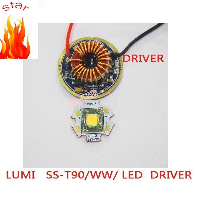 1PCS Luminus SST-90 30W LED Emitter 2250LM white 6500k Warm White 3000K PCB 20mm Copper +SST-90 LED Driver Board<br>