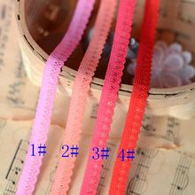 2017 Hot Sale New Arrival Crocheted French Lace Fabric Sewing Accessories Color Stretch Lace 1cm Widehot Sale