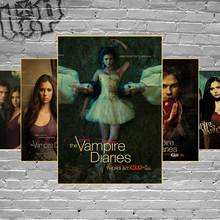 Custom The Vampire Diaries 5 retro Poster Fashion Stylish Home Decor Retro Bedroom High Quality Wall Sticker