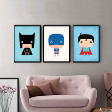 Painting Room Children's Fashion Home Decor Cartoon Superhero Avenger Batman Iron Man DC Comics Poster Canvas Art Print Image