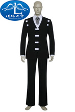 New Arrival Soul Eater Death the Kid Cosplay Costume Halloween Free Shipping(China)