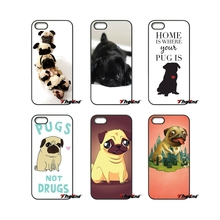 For Samsung Galaxy Note 2 3 4 5 S2 S3 S4 S5 MINI S6 S7 edge Active S8 Plus Cute Puppy Pug Life Dog animal Print Phone Case(China)