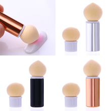 1 Pc Sharp Round Replaceable Sponge Heads Powder Brush Shade Gradient Pen Short Handle Nail Art Tool