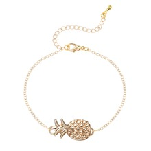 QIAMNI Lovely Adjustable Pineapple Bracelet Fashion Jewelry Bangle Bridesmaid Wedding Birthday Gift for Women Girls Party Gift