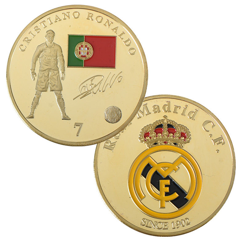 Football Commemorative Metal Coin Home Decoration Accessories Challenge Coins