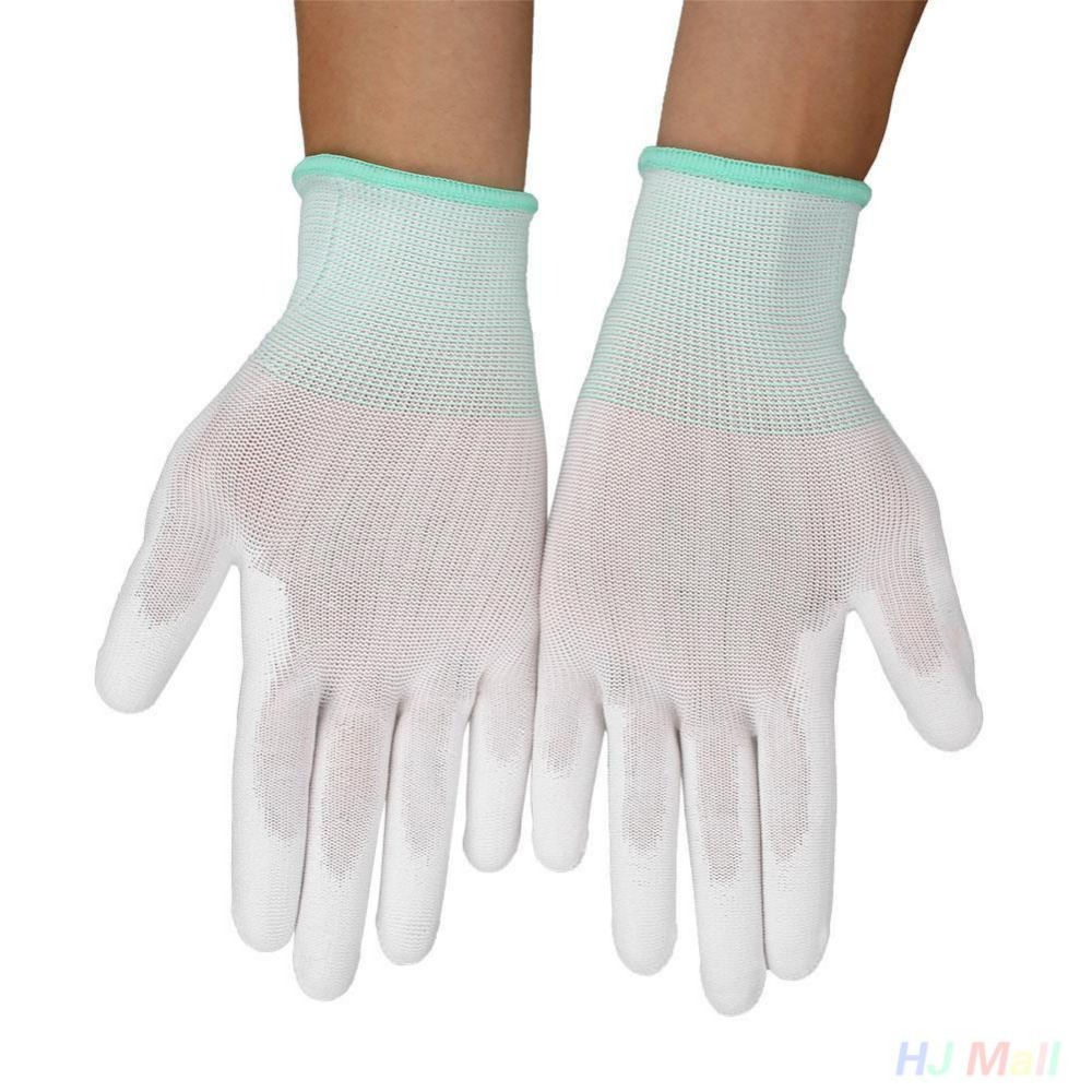 1 Pair PU Protective Antistatic Male Female Gloves Anti Static ESD Electronic Work Gloves PC Antiskid for FingerProtection<br><br>Aliexpress