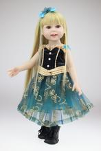 Long Hair Dressing Cute Princess Dolls Europe and the United States popular hot 18 - inch doll girl toys gifts(China)