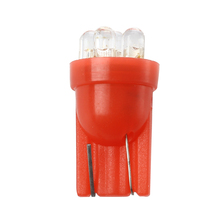 Red 6-LED Dashboard Side Light Bulbs T10 194 24V(China)