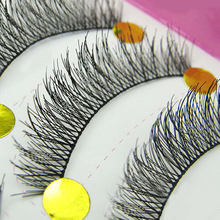 Popular 10 Pairs Black  Long Thick Makeup Beauty False Eyelashes Extension Cross Eye Lashes