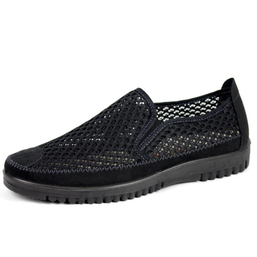 Summer breathable mens shoes light leisure mesh men footwear hollow cloth flats large size shoes 46 47 free shipping<br><br>Aliexpress
