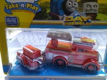 wholesale METAL child boy gift Diecast THOMAS and friend The Tank Engine take along train- flynn with truck NIB(China)