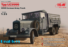 New Arrivial! ICM model 35405 1/35 Typ LG3000, WWII German Army Truck  plastic model kit