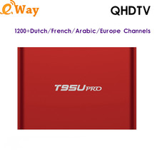 Europe IPTV Set Top Box T95U PRO 2G 16G with QHDTV Code to Watch French Netherlands Africa Sports IP TV Chnannels Arabic IPTV(China)
