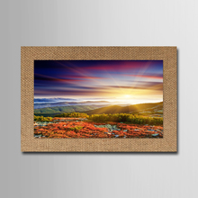 sunset natural trees landscape spray painting on linen print art home decor Wall art Picture For office Living room decoration