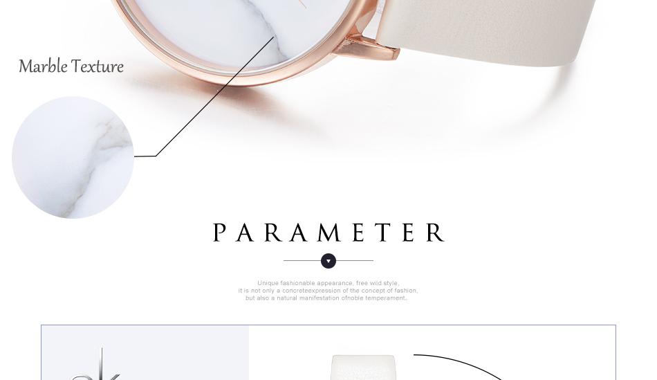 ساعة نسائية حزام جلد أنثى كوارتز الوان جميلة 6