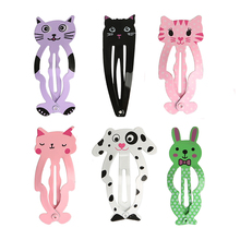 Buy 6pcs/set Fashion Cute Women Kids Animal Hairpins headwear barrettes Hair clips Snap Clips Children Girls Hair Accessories Gifts for $1.01 in AliExpress store