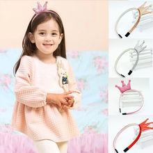 1 pc 5 colors New Design Angle Headband Shiny Crown Accessories Children Accessories Baby Hair Accessories Girls Hair Band(China)