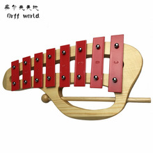Orff World Baby Child Kids 8-Note Xylophone Musical Toys Wisdom Development Beetle G Educational Musical Toys Christmas Gifts(China)