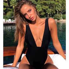 Buy 2018 Sexy Swimsuit Women Swimwear Push Bodysuit One Piece Monokini Halter Cross Bathing Suits Swim Suit Wear Female Beachwear