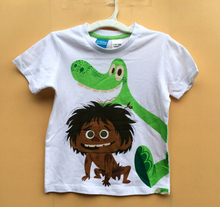 3T 4T 5T 6T Retail 1 pcs Free shipping boy clothing cotton short sleeve summer t shirt top  the good dinosaur
