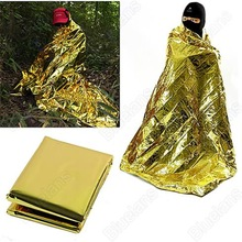 rescue emergent blanket survive thermal mylar lifesave first aid kit treatment camp warm heat dry keep foil bushcraft outdoor