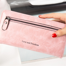 WESTERN AUSPICIOUS Wallet Women Long Style Purse Female Large Capacity Coin Purse Blue Gray Pink Womens Wallets and Purses 2017(China)
