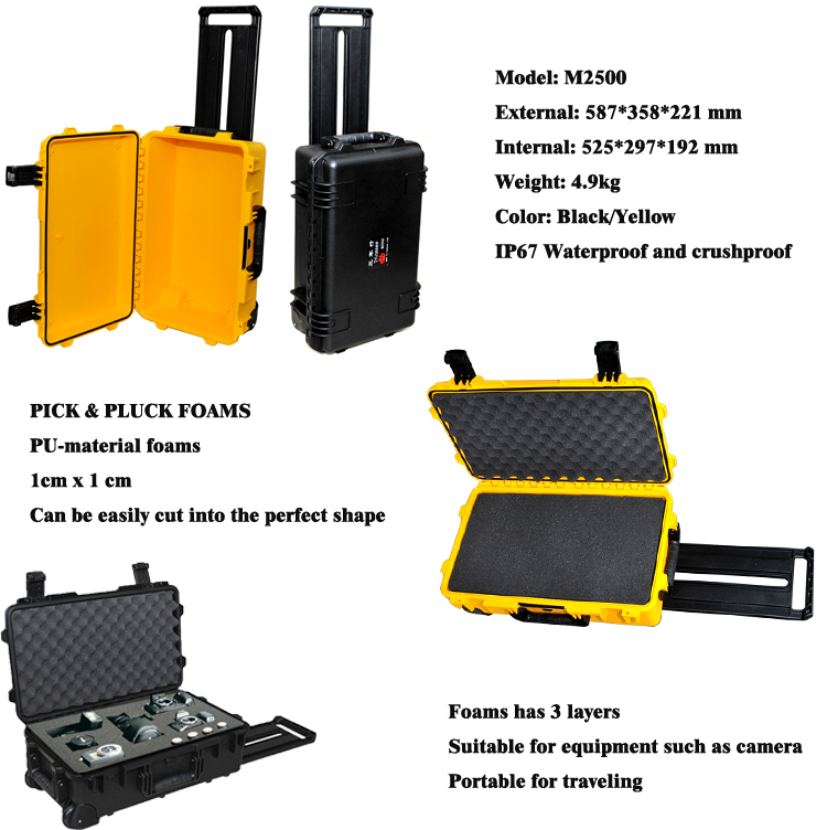 M2500 waterproof case