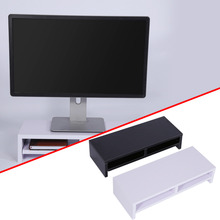 Wood Computer Monitor Riser Over Keyboard Monitor Riser Stand Desktop Organizer Wood Monitor Stand Storage Box Case(Hong Kong)
