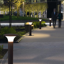 street light waterproof garden lighting fixture for the yard outdoor led pathway light wall column landscape lamp exterior(China)