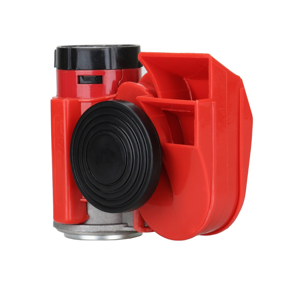 (Shipping from Germany) Red 12V 136db Car Motorcycle Truck Dual Tone Loud Compact Air Horn Compressor(China (Mainland))