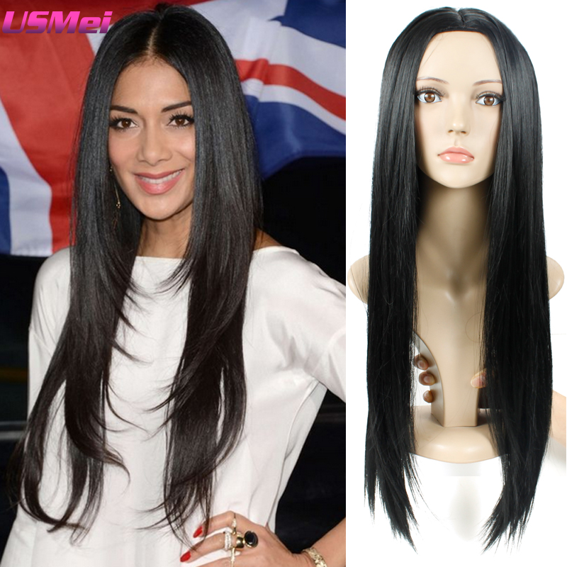 Black African Braids Wigs Heat Resistant Wig in Synthetic Wigs Long New Hair Accessory Black Color Deluxe Wig Caps Free Shipping<br><br>Aliexpress