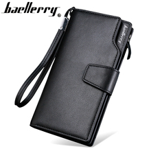 Top Quality leather long wallet men pruse male clutch zipper around wallets men women money bag pocket mltifunction(China)