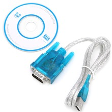 Blue USB 2.0 To RS232 RS-232(DB9) Serial Cable Standard Adapter Converter With DC Driver For PC High Quality C26(China)