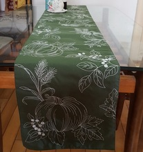 100% polyester embroidery handcraft Europe style table runner hot silver home decoration table topper(China)