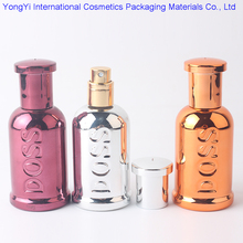 BP-158 50pcs/lot BOSS Glass Perfume Bottle Mini Multicolor Spray Bottle Refillable Empty Bottle Essential Oil Bottle  40ML