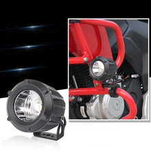 12V-24V 25W Led Spot Motorcycle headlight Moto driving flash light Cycling fog lamp 4x4 Off road ATV SUV Headlamp Led work light(China)