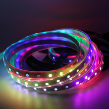 DC5V WS2812B ws2812 RGB individually addressable Smart led pixel strip light Black/White PCB 30 60 leds/m WS2812 IC tape lamp st