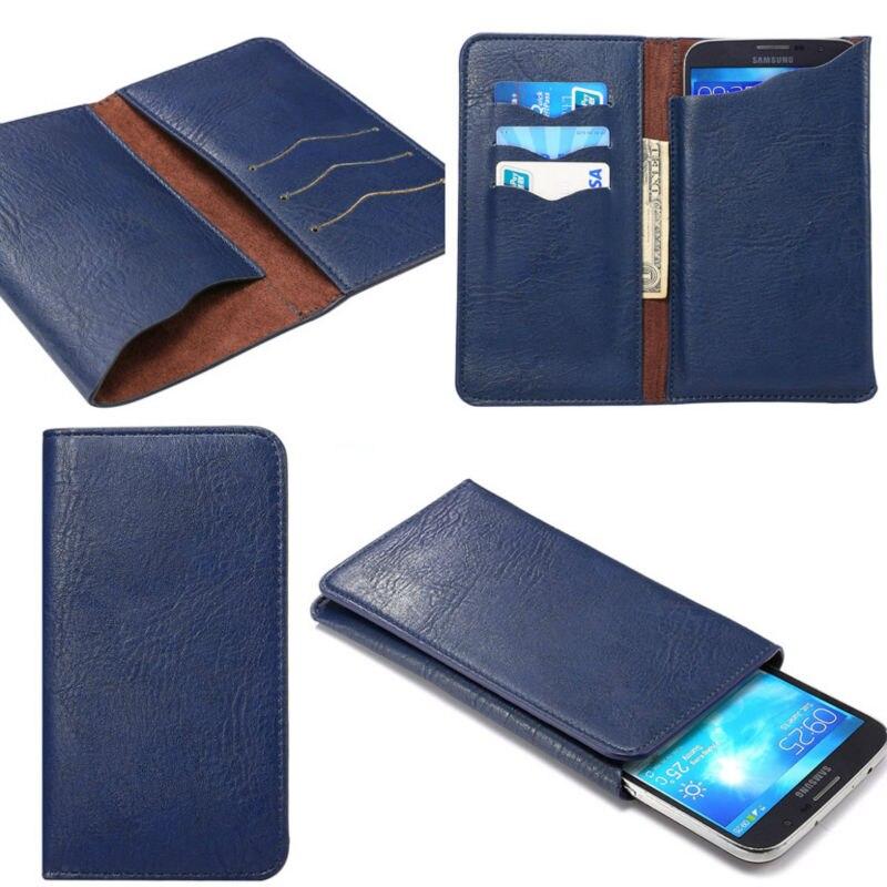 Universal Crazy Horse Leather Flip Mobile Phone font b Case b font Wallet Pouch Back Cover