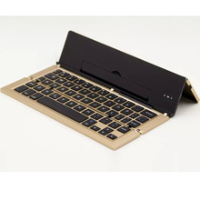 Universal sclim Aluminum Foldable Wireless Bluetooth Keyboard for iOS / Windows/ Android Tablet or SmartPhone for iPad Samsung