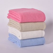 Cotton Knit Wool Baby Nap Blankets Air Conditioning Blanket Sofa Cover Blankets(China)