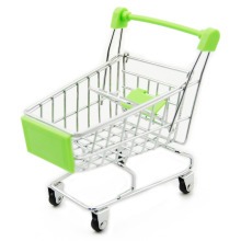 Mini Shopping Cart Toy Cart Simulation Supermarket Shopping Utility Cart Storage Funny Folding Handcart Wheel Baby Toys for Kid(China)