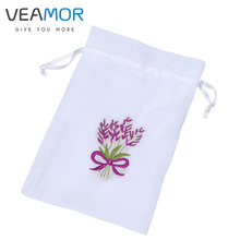 VEAMOR 50pcs/lot Children Gift Bags Transparent Knitted Embroidery Gift Storage Bags Beam Port Candy Bags B1234